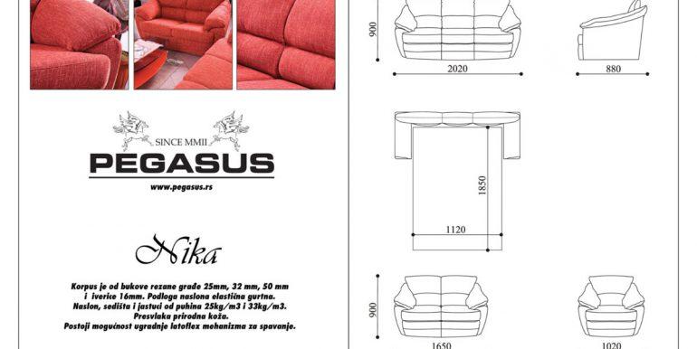 Pegasus trosed, dvosed i fotelja